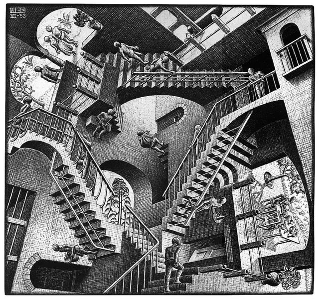the life and works of maurits cornelis escher Maurits cornelis escher,  early life: maurits cornelis was born in leeuwarden,  most of escher's better-known works date from this period.