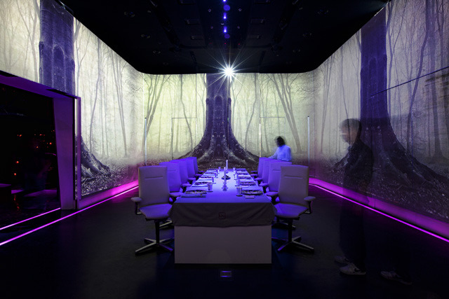Ultraviolet is a restaurant that feeds all five senses for 5 senses in architecture