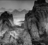 Still from Yang Yongliang's video art, Phantom Landscape, 2010.
