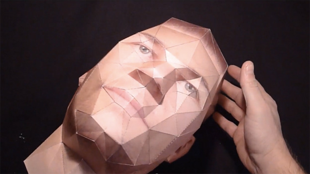 Turn Photos Of Your Head Into A 3d Paper Model The