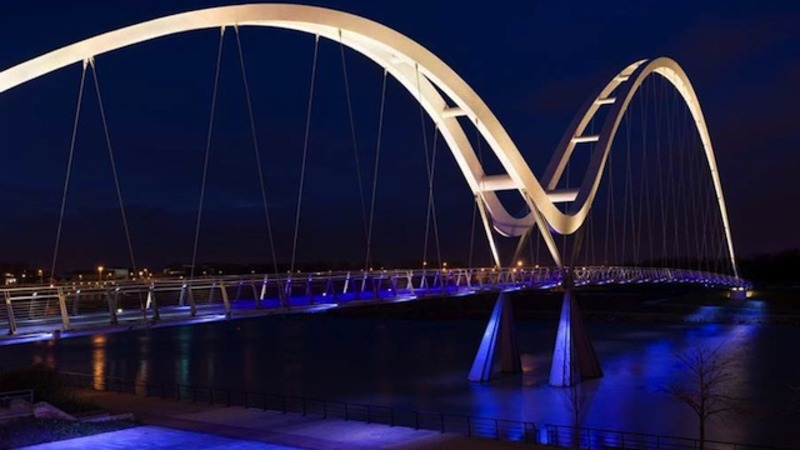 A UK Bowstring Bridge Transforms Into A Dazzling Infinity Sign By Night